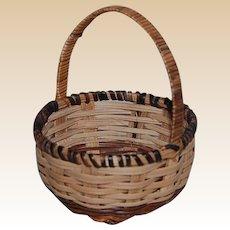 Vintage Woven Doll Size Basket