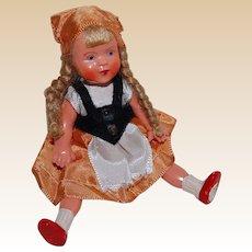 Sweet Hard Plastic German Doll