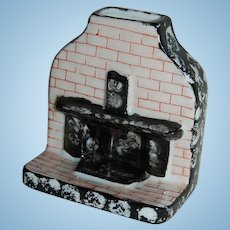 Miniature Ceramic Fireplace or Chimney for Dollhouse or Incense Japan