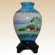 Decorative Occupied Japan Vase on Pedestal for Dollhouse