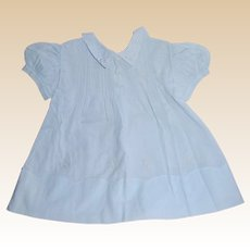 Sweet Baby Doll or Infant Blue Dress Embroidered