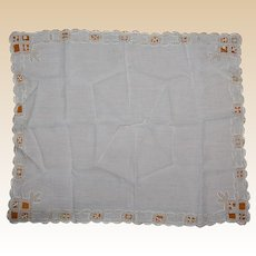 Antique Lace work Bride's Scarf