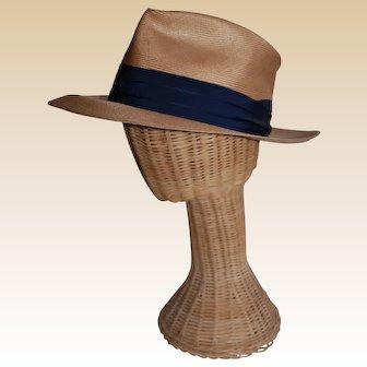 1940's Panama Style Balibuntal Woven Hat Young's of New York