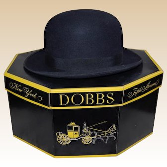 Stetson Bowler Hat with Dobbs 5th Ave Hat Box