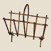 Spanish Gilt Metal Bamboo Magazine Rack