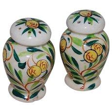Japan Ceramic Salt and Pepper Shakers Yellow Berry Design
