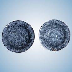 Miniature Graniteware Dollhouse Bowls