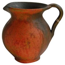 Vintage Mexican Art Pottery Pitcher Matte Glaze