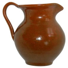 Vintage Stoneware Small Pitcher or Creamer from Mexico
