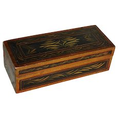 Folk Art Painted Antique Document Box
