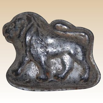 Vintage Tin Lion Candy Chocolate Mold