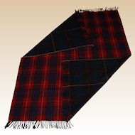 Vintage Two Sided Plaid Wool Stadium Blanket