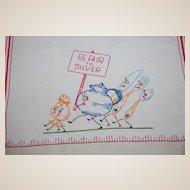 Be Fair to Silver Embroidered Kitchen Towel for polishing