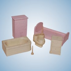 Strombecker Bed and Bathroom set