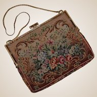 Austrian Petit Point Purse with Jeweled Frame