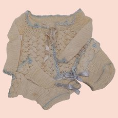 Infant 3 Piece Knit Perambulator Sweater Set