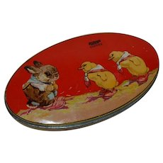 Easter Bunny and Chicks Riley's Toffee Tin