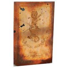 Vintage Ex Libris Copper Book Plate Deo Non Fortuna