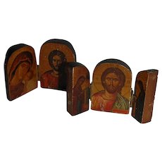 Tiny Travel Religious Icons Diptych and Triptych