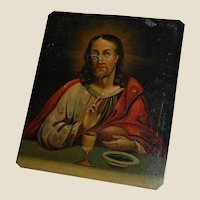 Last Supper Jesus Retablo Tin Painting