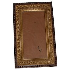 Late 1800's Wood and Floral Gesso Wall Frame