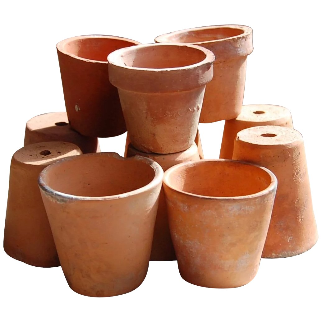 12 Small Antique Florist Terracotta Flower Pots Starr Hill Antiques Ruby Lane