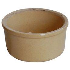 Roseville Yelloware Butter Crock or Bowl