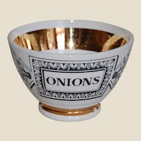 Piero Fornasetti Bar or Snack Bowl ONIONS