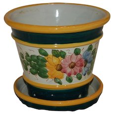 Colorful Planter Flower Pot Marked Italy