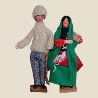 Vintage Ethnic Folk Doll Couple Native Dress