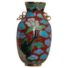 Cloisonné Dollhouse Vase with handles