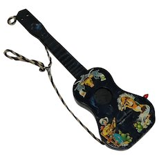 Mattel Futureland Toy Guitar Cowboy Music Box