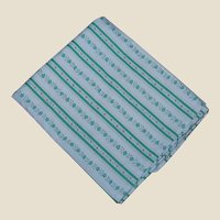 Green Stripe Vintage Flour Bag Pillow Cover