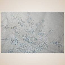 Never Embroidered VOGART Square Linen Tablecloth