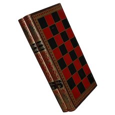 Faux BOOKS Vol. I-3 Checker Board Backgammon Game Cardboard