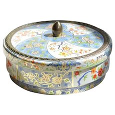 Vintage Holland Biscuit or Sweets Tin Oriental Floral