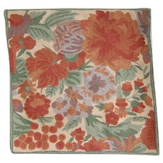 April Cornell Crewel Needlework Pillow Cover