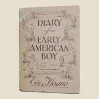 1962 Diary of an Early American Boy Eric Sloane