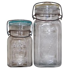 Royal and Queen Vintage Canning Storage Jars