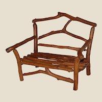 Adirondack Rustic Twig Doll Bench