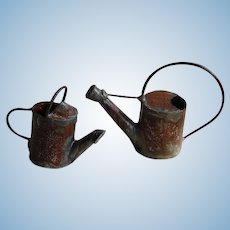 2 Miniature Dollhouse Garden Watering Cans