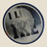 I LIKE IKE 1950's Political Flashing Button