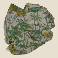 "Vintage Decorator Fabric Screen Print ""BANJO' Tropical Print Cotton 2+ yards 1960's-70's"