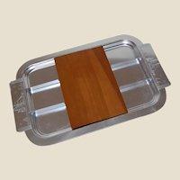 Art Deco Alcoa Kensington Clipper-Ship Buffet Server Tray with snack inserts