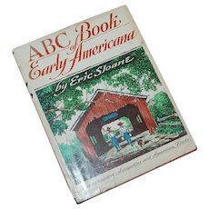 1963 ABC Book of Early Americana by Eric Sloane