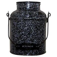 Dark Brown Graniteware Milk or Berry Bucket