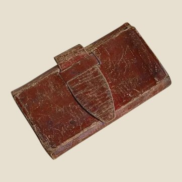 Early Men's Billfold Wallet with owner's name