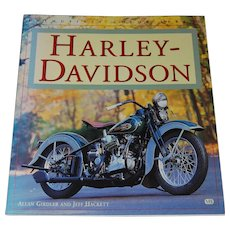 Harley Davidson Book by Allan Girdler and Jeff Hackett Vintage Motorcycles