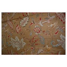 Jane Clayton Printed in England Decorator Vintage Style Fabric Early Birds 3+ yds