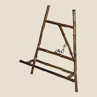 Vintage Metal Bamboo Style Tabletop Easel